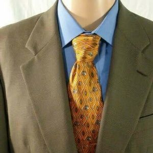 Hickey Freeman 42L Gray Men's 2 Button Blazer